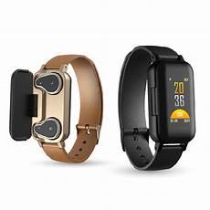 Bakeey Dual Rotation Smart by Bakeey T89 Bt 5 0 Smart Wireless Dual Headphone Wristband