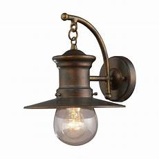 titan lighting maritime wall outdoor hazelnut bronze