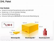 dhl packet kosten tracking support