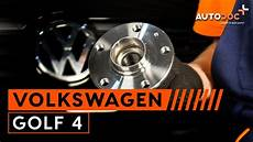 how to replace a rear wheel bearing on vw golf 4 tutorial
