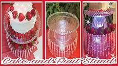 diy glow in the dark bling wedding cake stand party 2 tier fruit tray youtube