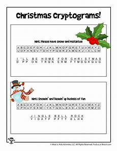 winter cryptogram worksheets 19979 carols printable puzzle answer key woo jr activities