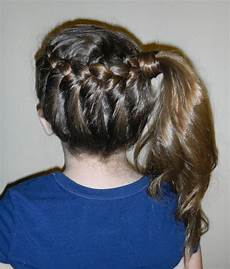 hairstyles for the wright hair braid to side ponytail