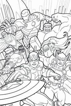 Ausmalbild Marvel Superhelden Vingadores Unidos P 225 De Colorir Festas Infantis
