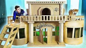 AMAZING HOUSE FOR PUPPY DOG FROM CARDBOARD  YouTube