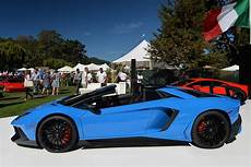 lamborghini aventador sv roadster side view blue lamborghini aventador sv roadster at the quail side view sssupersports