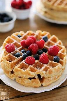 fluffy waffle recipe to freeze grace and good eats