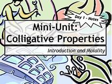 lesson plan bundle colligative properties by msrazz chemclass