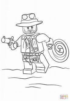 dibujo de indiana jones de lego para colorear dibujos