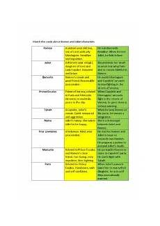romeo and juliet characters esl worksheet by dragun