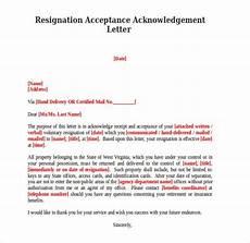 9 resignation acknowledgement letter templates pdf word free premium templates