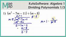 division of polynomials worksheets with answers 7014 kutasoftware algebra 1 dividing polynomials part 1