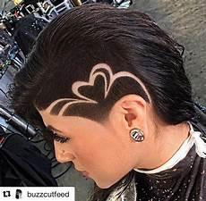 adorable sidecut heart design hair styles hair designs undercut hair designs