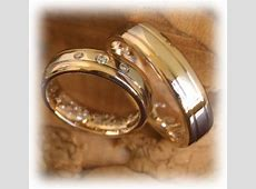 Diamond Wedding Rings FT332 White and Yellow Gold, two