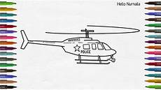 helicopter coloring page learn colors how to draw