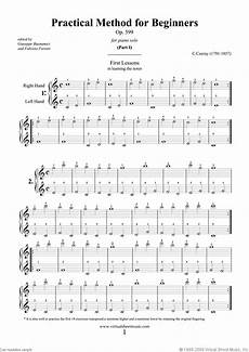 czerny practical method for beginners op 599 sheet music for piano solo