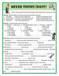 grammar worksheets about tenses 24706 mixed tenses past interactive worksheet
