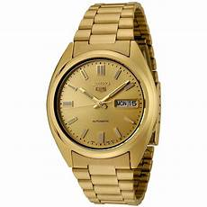 seiko 5 mens gold gold bracelet automatic