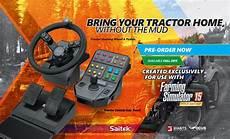 landwirtschafts simulator 15 lenkrad und konsole in sicht
