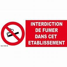 affiche défense de fumer panneau d interdiction de fumer dans cet 233 tablissement