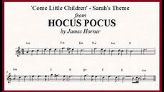 come little children notes chords from hocus pocus horner youtube
