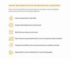 6 tips to writing a winning resume headline livecareer