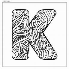 Ausmalbilder Buchstaben I Buchstabe Quot K Quot Zum Ausmalen Fertig Aufgespannt Canvasi