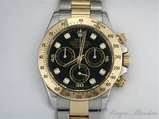 rolex daytona stahl rolex daytona stahl gold 750 chronograph diamanten ebay