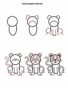 wie zeichnet einen tiger kostenlose ausmalbilder