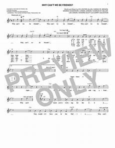 why can t we be friends chords by war melody line lyrics
