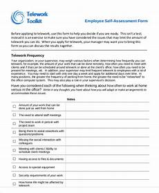 7 employee self assessment sles exles in word pdf