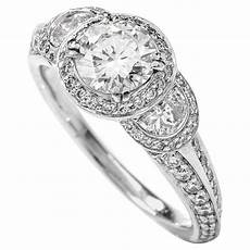 ritani three stone half moon diamond platinum engagement ring for sale at 1stdibs