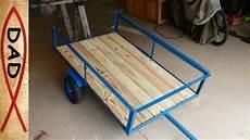 diy lawn mower trailer garden cart
