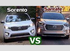 2018 Hyundai Santa Fe vs 2018 Kia Sorento Comparison