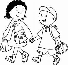 caillou clementine coloring page wecoloringpage