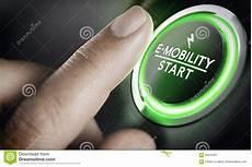e mobility green car start button stock illustration