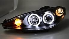 sw ccfl eye scheinwerfer peugeot 206 black sw tuning