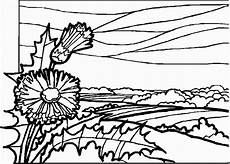 landscapes coloring pages