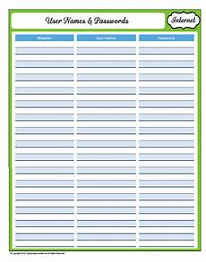 printable password card 31 days of home management binder printables day 17 website user names and passwords
