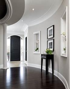 gray walls white trim dark hardwood floors black