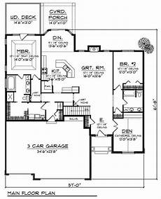 theplancollection com house plans ranch home with 2 bdrms 2079 sq ft house plan 101 1662