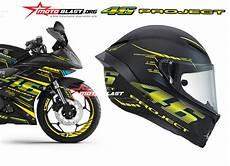 Modif Helm Yamaha by Modifikasi Motorsport Yamaha R15 Black Striping Vr46