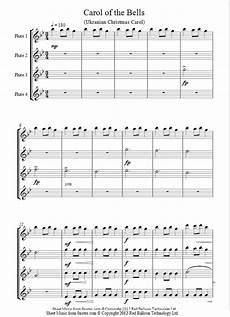flute quartet carol of the bells sheet music 8notes com