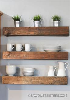 Free Floating Bookshelves diy floating shelves free plans sawdust