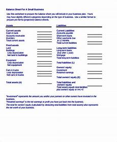 free 10 sle balance sheet templates in ms word pdf