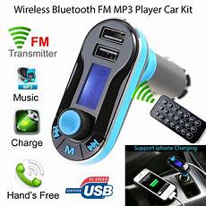 Wireless Bluetooth Car Fm Transmitter Mp3 Radio Player