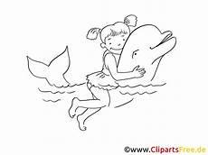 Malvorlagen Delfin Ui M 228 Dchen Und Delfin Zeichnung Clipart Bild Schwarz Weiss