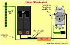 wiring diagram 20 240 volt circuit electrical wire