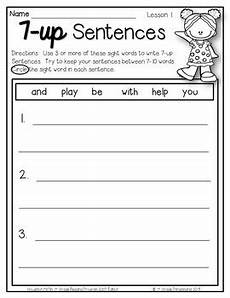 writing sentences worksheets 1st grade 22093 7 up sentence writing 1st grade sight words aligned with hmh journeys 2011 2017