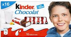 kinder le attention aux kinder chocolat et kinder maxi de ferrero